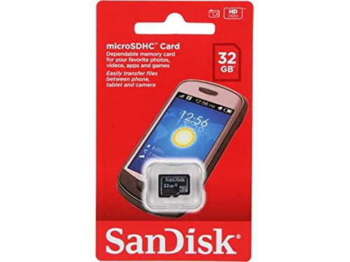 SanDisk 32GB Class 4 Micro SDHC Memory Card work with Roku Ultra, Roku 4, Roku 3, Roku 2 Streaming Player with Everything but Stromboli (TM) Card Reader (SDSDQM-032G-B35)