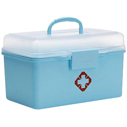 Portable Household First-Aid Kit/Medicine Storage Box Pill Organizer Sky Blue by Kylin Express
