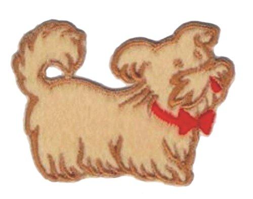 (2pcs Cartoon Schnauzer Puppy Dog Embroidery Applique)