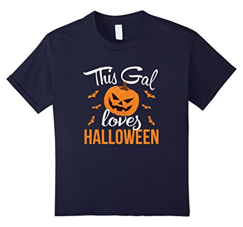 Kids 2017 Halloween Costume This Gal Loves Halloween Shirt 12 Navy (Rock Of Love Girl Halloween Costume)