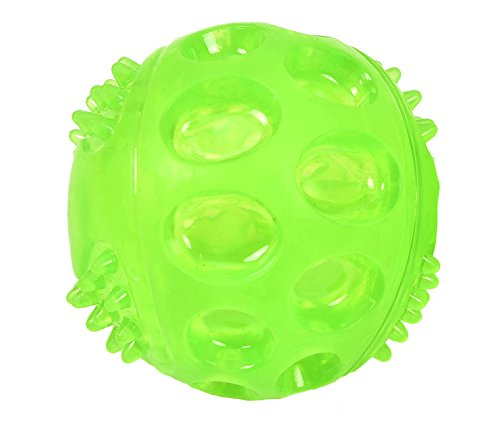 Dog Ball Toy Squeaky Chew Toys for Chewers, Irregular Bouncing