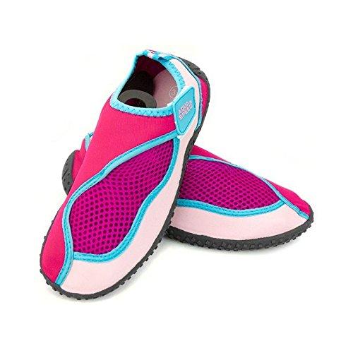 Aqua Speed® Aqua Model–Zapatos de 26(tamaños: 22–�?0Unisex antideslizante estructura Piscina Piscina Cierres de Velcro Neopreno) - Pink-Light Pink-Blue