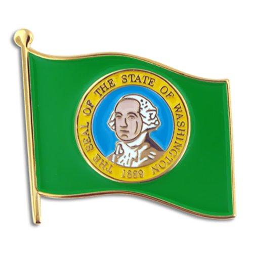 """PinMart's Washington US State Flag WA Enamel Lapel Pin 1"""""""