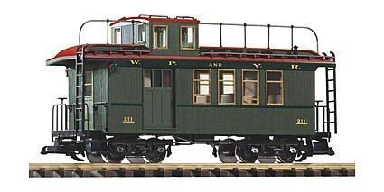 PIKO G SCALE WP&YR WOOD DROVERS CABOOSE 211 | BN | 38634 .HN#GG_634T6344 - Caboose Drovers