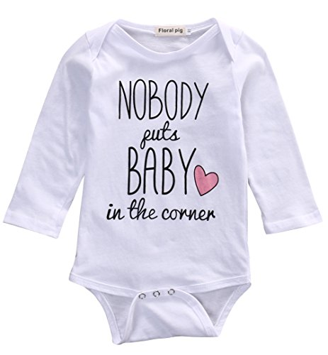 Baby Girls Boys' Nobody Puts A Baby In A Corner One Piece Jumpsuit Romper (3-6 - Baby A In Corner