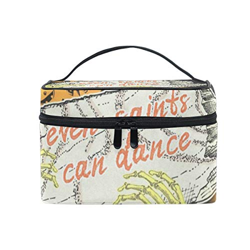Makeup Bag Halloween Zombie Cosmetic Bag Portable Large Toiletry Bag for Women/Girls Travel