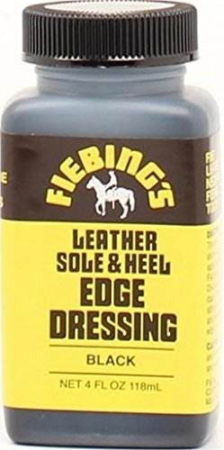 Leather Sole & Heel Edge Dressing (Black) 4oz - Heel Sole Edge Dressing