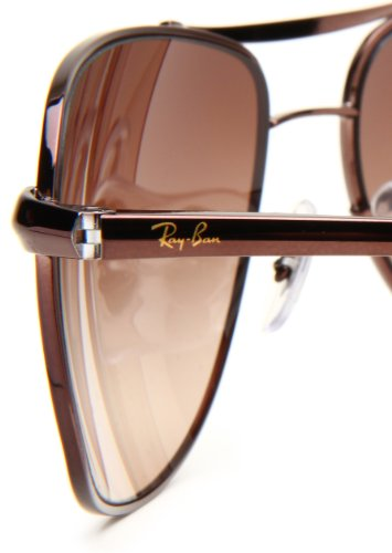 135b73bf27 Ray-Ban RB3387 - BROWN Frame BROWN GRADIENT Lenses 64mm Non-Polarized   Amazon.ca  Clothing   Accessories