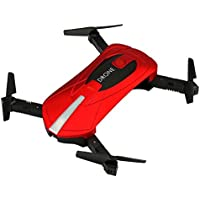 Owill JD-018 2.4G 4CH Altitude Hold 0.3M HD Camera WIFI FPV RC Quadcopter Pocket Selfie Drone (Red)