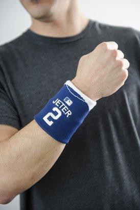 MLB New York Yankees Derek Jeter Jersey #2 Fan Band Wristband Sweatband (Blue)