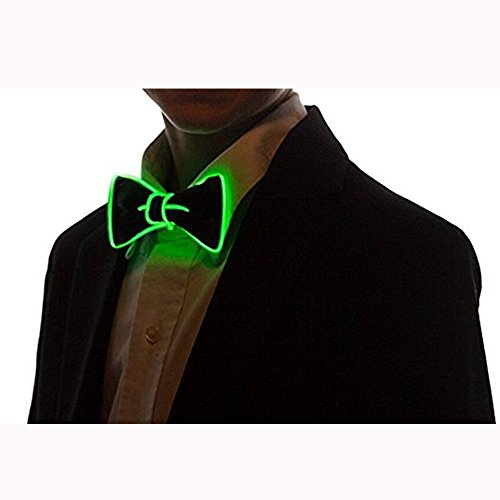 Denshine-LED-Light-Up-Bow-Tie-for-Men-Voice-Activated-Drive-Bow-Tie-Costume-Accessory-for-New-YearsChristmasHalloween-Party-2018-Newest-Novelty-Party-Supplies-Best-Gift-4-Colors