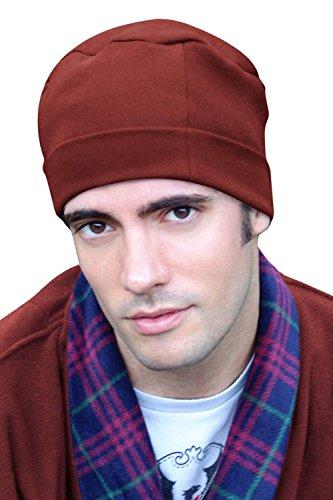 - Mens Sleep Cap - 100% Cotton Night Cap for Men - Sleeping Hat Brick