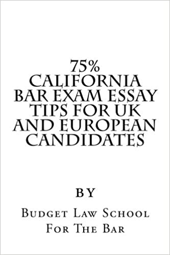 75% California Bar Exam Essay Tips For UK and European Candidates: 70% is the pass mark for the California bar rather than 50%, and 75% is considered a 'clear pass.'