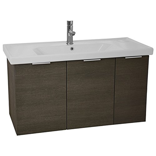 ARCOM LAM03 Lamlooma Wall Mount Vanity Cabinet Set with Fitted Sink, 39