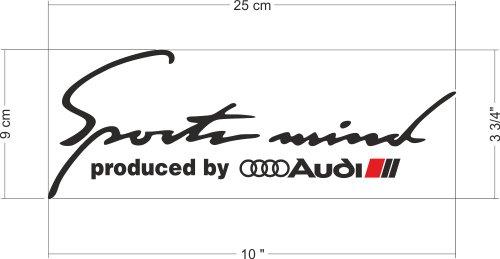 Sports Mind Produced by Audi Sport Logo Stripes A3 A4 A5 ...