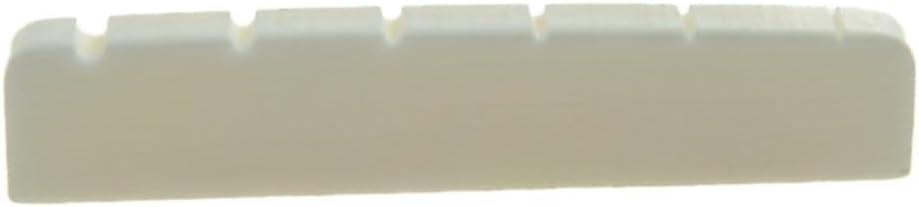Kaish -Hueso de base plana, hueso de ganado, auténtica cejuela de hueso para guitarras LP Les Paul, 43x 6mm