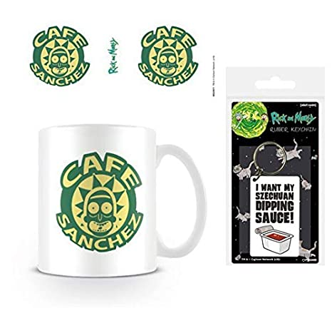 Set: Rick Y Morty, Cafe Sanchez Taza Foto (9x8 cm) Y 1 Rick ...