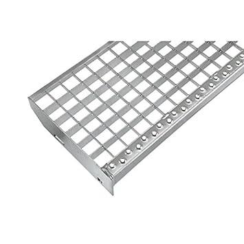 600 x 240 mm Einpress Treppenstufe EP Stufe Tritt Gitterroststufe 30x30 mm
