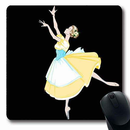 Ahawoso Mousepads Artistic Ballerina Puff Costume Apron Tutu Corset Painting Ballet Dancer Design Bodice Oblong Shape 7.9 x 9.5 Inches Non-Slip Gaming Mouse Pad Rubber Oblong Mat