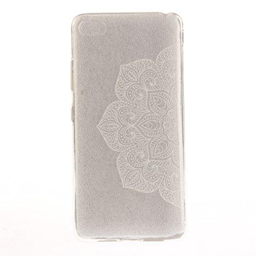 Caja Transparente de Lenovo S90T, MAGQI Flexible y Durable del gel de TPU a Prueba de Choques [Anti-Rasguñe] Tope de la Absorción y, [Pluma Negra Libre de la Aguja]-Mandala negro Henna