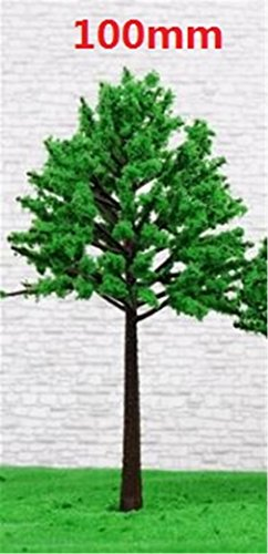 Wind Chime Table Fountain - HOUSES Model Tree Trunk Miniature World Micro Landscaping Decorative Sand Table Model Accessories Green Tree 100mm