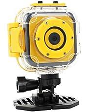 Panox Champion Action Camera voor kinderen (HD 720p, 1,3MP sensor, 4,5 cm display, 30m waterdicht) geel