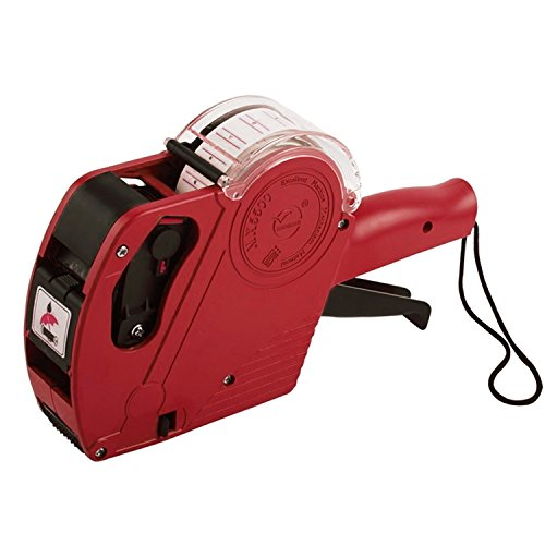 Mx5500 EOS 8 Digits Price Tag Gun Labeler Labeller Included Labels & Ink Refill Blue, Yellow, Red (Red)