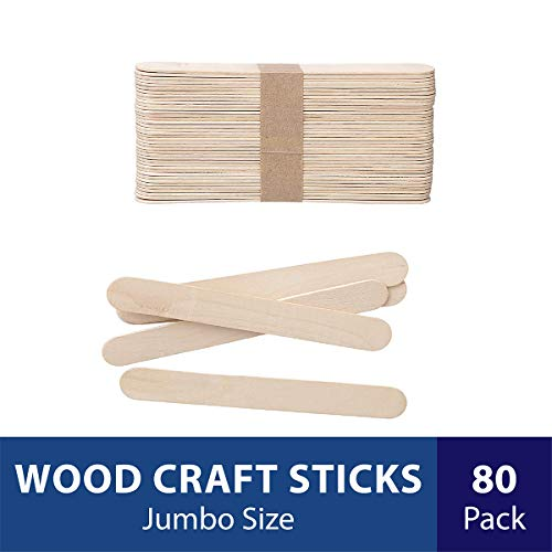 Home Depot Halloween Ideas (Darice Natural Wood Craft Sticks Jumbo. 80 Pieces, (5.75)