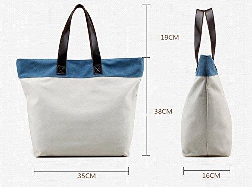Frauen Jahrgang Leinwand Schulter Aktentasche Messenger Handtasche Schulranzen Multifunktional Tasche ,A-OneSize
