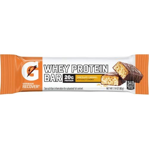 Gatorade Recover Bar, 20 Grams of Protein, Chocolate Caramel (Pack of 36)