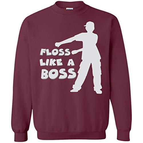 - Floss Like a Boss Sweatshirt for Men Women Boys Girls, Floss Dancing Gifts for Dancers, Maroon, Adult/X-Large