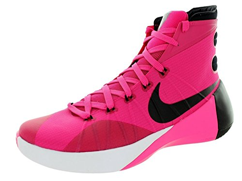 Nike Men's Hyperdunk 2015 Vivid Pink/Black/Pink Pow/Wht Basketball Shoe 9.5 Men US