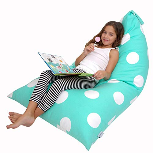 Butterfly Craze Stuffed Animal Storage Bean Bag Chair – Stuff 'n Sit Toy Bag Floor Lounger for Kids, Teens and Adult |Extra Large 200L/52 Gal Capacity |Premium Cotton Canvas (Teal) ()