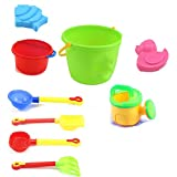 VGHJK Children's Beach Toy Set Large Baby Playing Sand Digging Sandglass Shovel Tool Cassia Baby Toy Bath Toy (Color Random),A