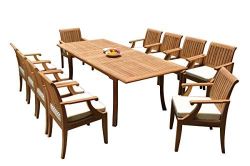 WholesaleTeakFurniture Grade-A Teak Wood 10 Seater 11 Pc Dining Set: 94