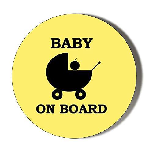 Gift Insanity Imán para Nevera con Texto en inglés Baby On Board ...