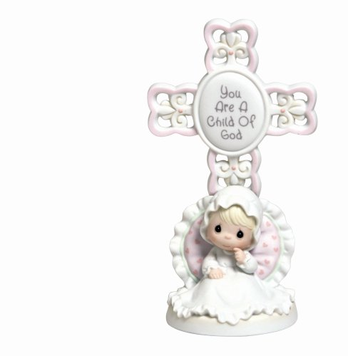 Baptism Ornament Cross Ornament Girl Baptism Ornament Girl: Precious Moments You Are A Child Of God Bisque