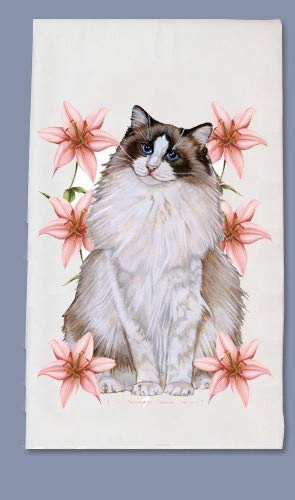 PIPS001 Animal Pet Gifts, Ragdoll Dish Towel by PIPS001