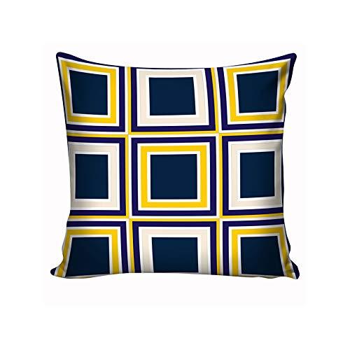Almofada Decorativa Azul & Amarelo VI