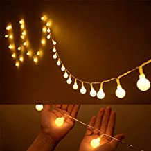 OFKP® Indoor Fairy Lights 100 Led Globe String Festoon Party Lighting Warm Yellow for Patio Christmas Wedding Bedroom