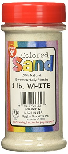 ored Play Sand - Assorted Colorful Craft Art Bucket O' Sand, White, 1 lb ()