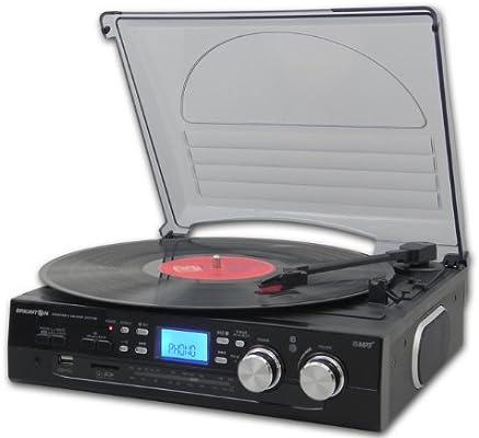 Brigmton BTC-403 tocadisco - Tocadiscos (Negro, 318 x 290 x 145 mm ...