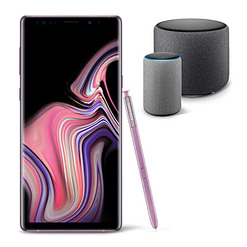 Samsung Galaxy Note 9 Unlocked Phone 128GB, Lavender Purple with Echo Sub and Echo (2nd Generation) - Smart speaker with Alexa