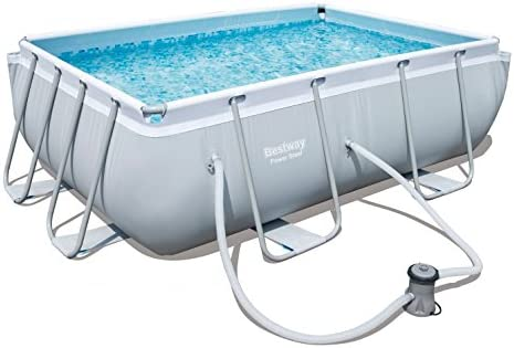 Bestway Power Steel Rectangular Pool Set 282 x 196 x 84 cm ...