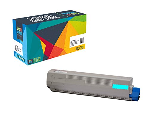Do it Wiser Compatible High Yield Toner Cartridge Replacement for Oki C5500 C5500N C5500DN C5800 C5800N C5800DLN C5900 C5900N Cyan