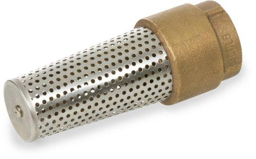 Smith-Cooper International 191 Series Brass Foot Valve, 1-1/2