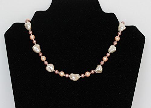 Dalia Pearls - Mauve, Peach, White Pearl Necklace.