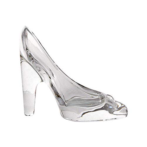 Wansan Cinderella Crystal Shoes Decoration Glass Shoes 18 Years Old Adult Gifts Girlfriends Friends Birthday Valentine's Day Graduation Gifts High Heel Glass Shoes -