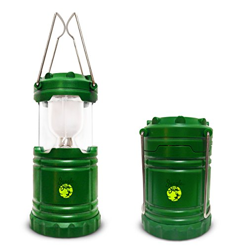 Camping Lantern LED - Portable Collapsible Water Resistant and Lightweight - Green -