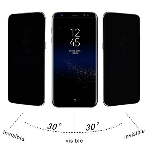 Mchoice For Samsung Galaxy S8 Plus Privacy Full Screen Protector Anti-Spy Tempered Glass